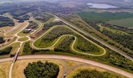 Millbrook Proving Ground car test tracks aerial view