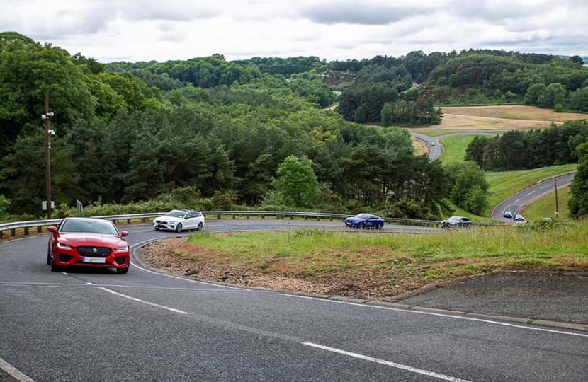 Company Car in Action (CCIA) driving event at Millbrook Proving Ground